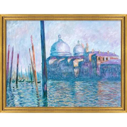 """La Pastiche The Grand Canal, Venice with Versailles Gold Queen Frame Oil Painting Wall Art, 45""""x35"""""""