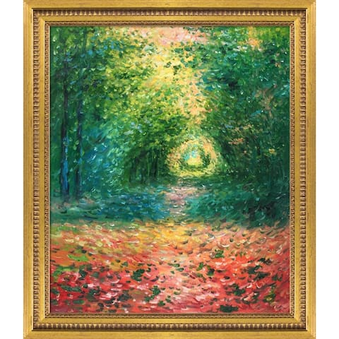 """La Pastiche The Undergrowth in the Forest of Saint-Germain, 1882 with Versailles Gold Queen Frame Oil Painting Wall Art, 25""""x29"""""""