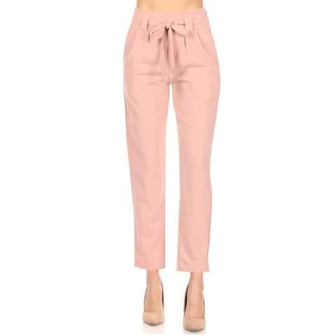 Women's High Waist Casual Cropped Trouser Pants