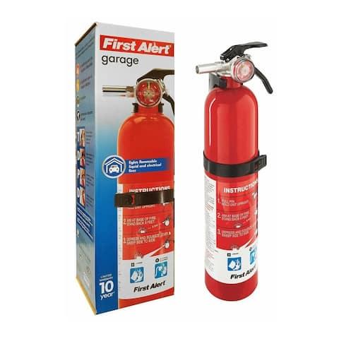 First Alert Rechargeable Garage Fire Extinguisher (Red) - GARAGE10