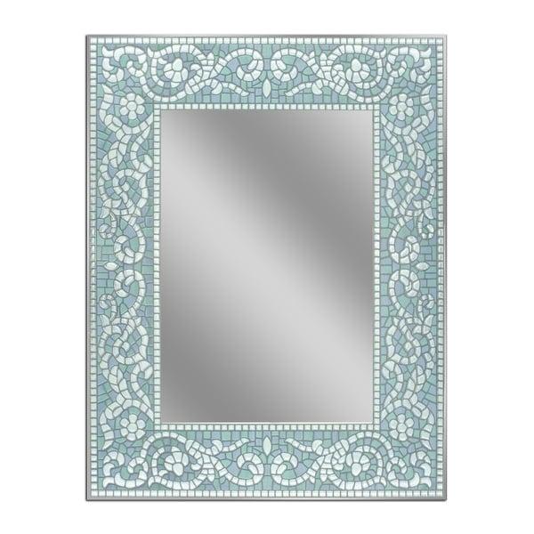 22 x 28 Sea Glass Floral Wall Mirror