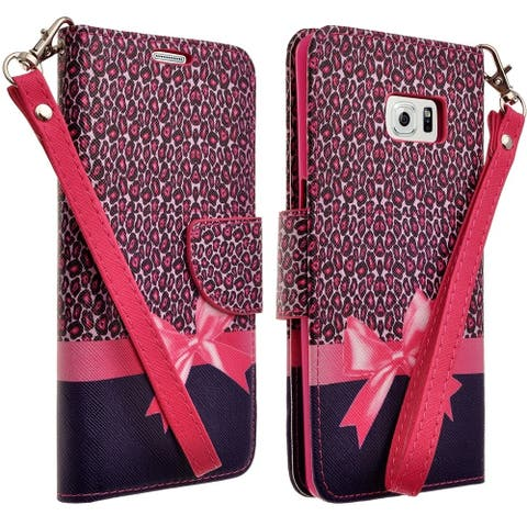 Cellphone Wallet Case with Selfstand for Samsung Galaxy S6 Edge Plus