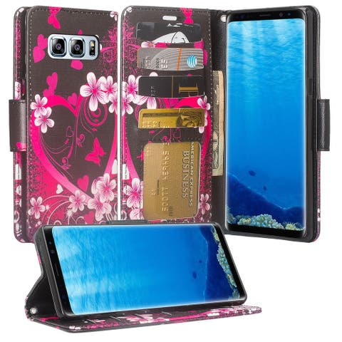 Cellphone Wallet Case with Selfstand for Samsung Galaxy Note 8