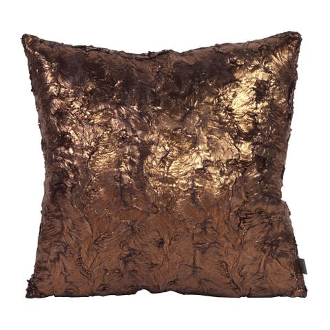 Gold Cougar Pillow Cover 20 x 20
