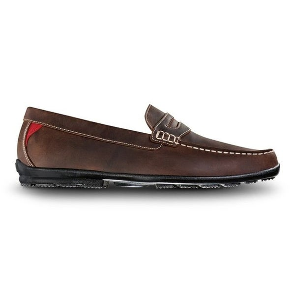 FootJoy Men's Club Casuals Loafer - Tumbled Tan 79011. Opens flyout.