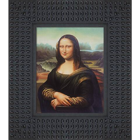"La Pastiche Mona Lisa with Java Bean Frame Oil Painting Wall Art, 14.5""x16.5"""
