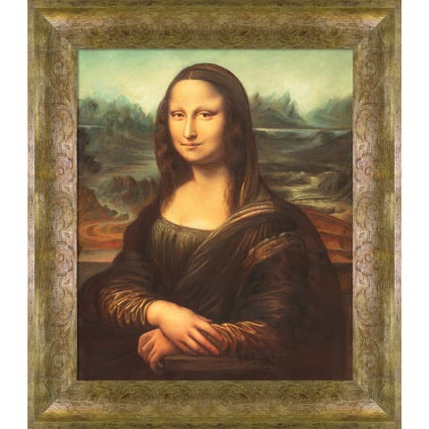 """La Pastiche Mona Lisa with Sirocco Frame Oil Painting Wall Art, 27""""x31"""""""
