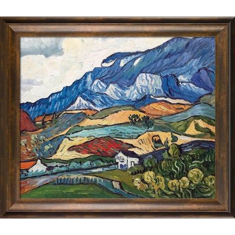 """La Pastiche Les Alpilles, Mountain Landscape near South-Reme, 1889 with Modena Vintage Oil Painting Wall Art, 29""""x25"""""""