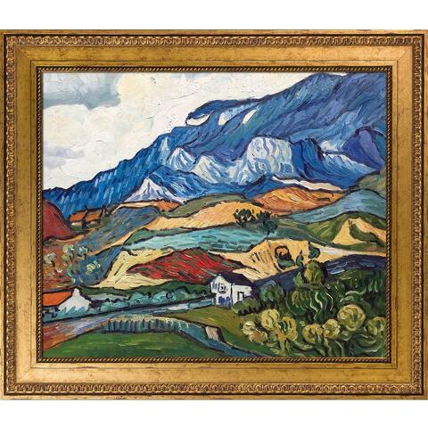 """La Pastiche Les Alpilles, Mountain Landscape near South-Reme, 1889 with Versailles Gold King Frame Wall Art, 30""""x26"""""""