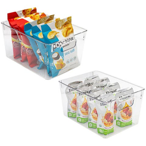 Set of Big Square Fridge Bin With Handles