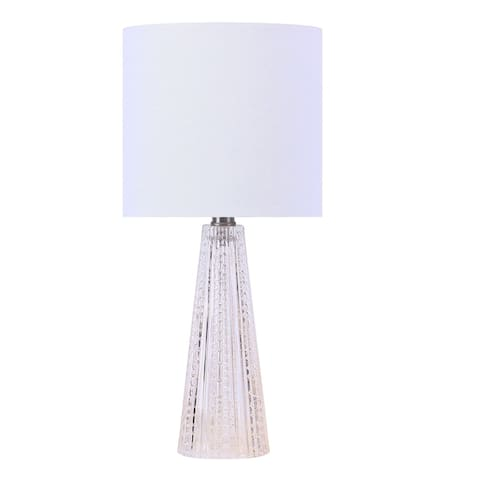 """16"""" Glass Accent Table Lamp w/ Shade"""