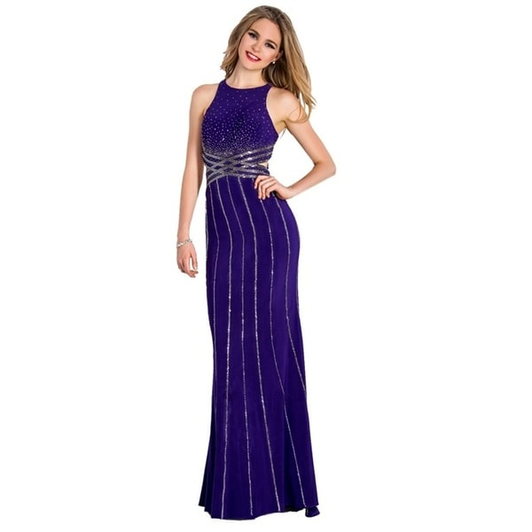 Stella Couture Backless Prom Long Dress. Opens flyout.
