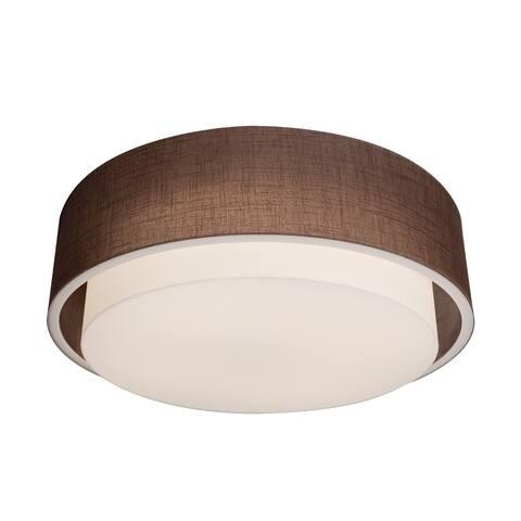 AFX Sanibel 1-light Satin Nickel LED Ceiling Light