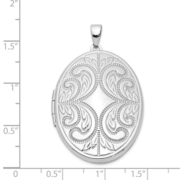 Sterling Silver 33MM Oval Locket Charm Pendant