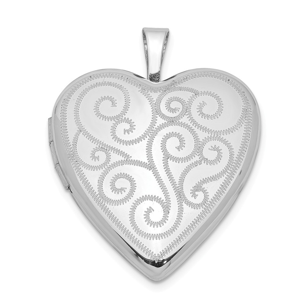 Sterling Silver 20mm Polished Oval Locket Solid 15 mm 20 mm Pendants /& Charms Jewelry