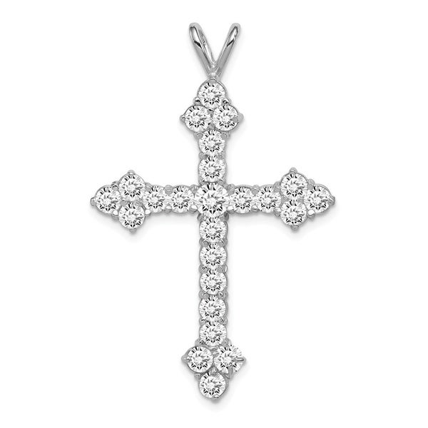 Curata 925 Sterling Silver Solid Polished Open back CZ Cubic Zirconia Simulated Diamond Religious Faith Cross Pendant Necklace J. Opens flyout.