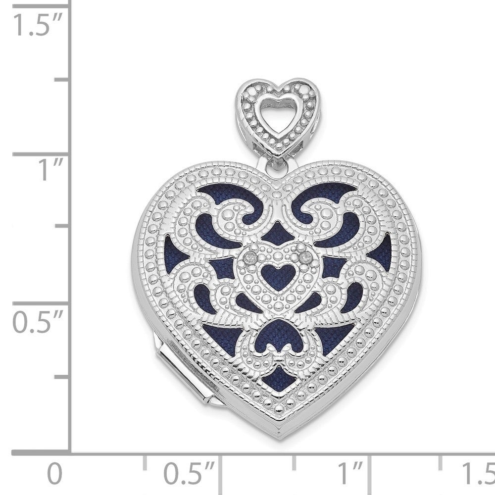 Sterling Silver Jewelry Pendants /& Charms Hollow Polished Love Pendant