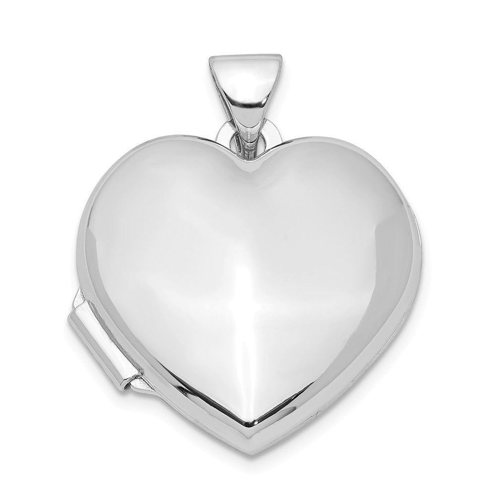 925 Sterling Silver Polished 13mm Heart Locket Pendant
