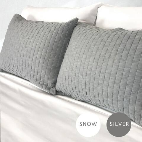 eco-melange Rayon Bamboo Cotton Quilted Standard Shams
