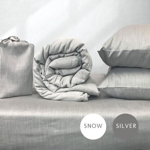 eco-melange Rayon Bamboo Cotton Bed Bundle 4pc-