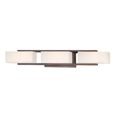 Facet 3 Light Bath Bar