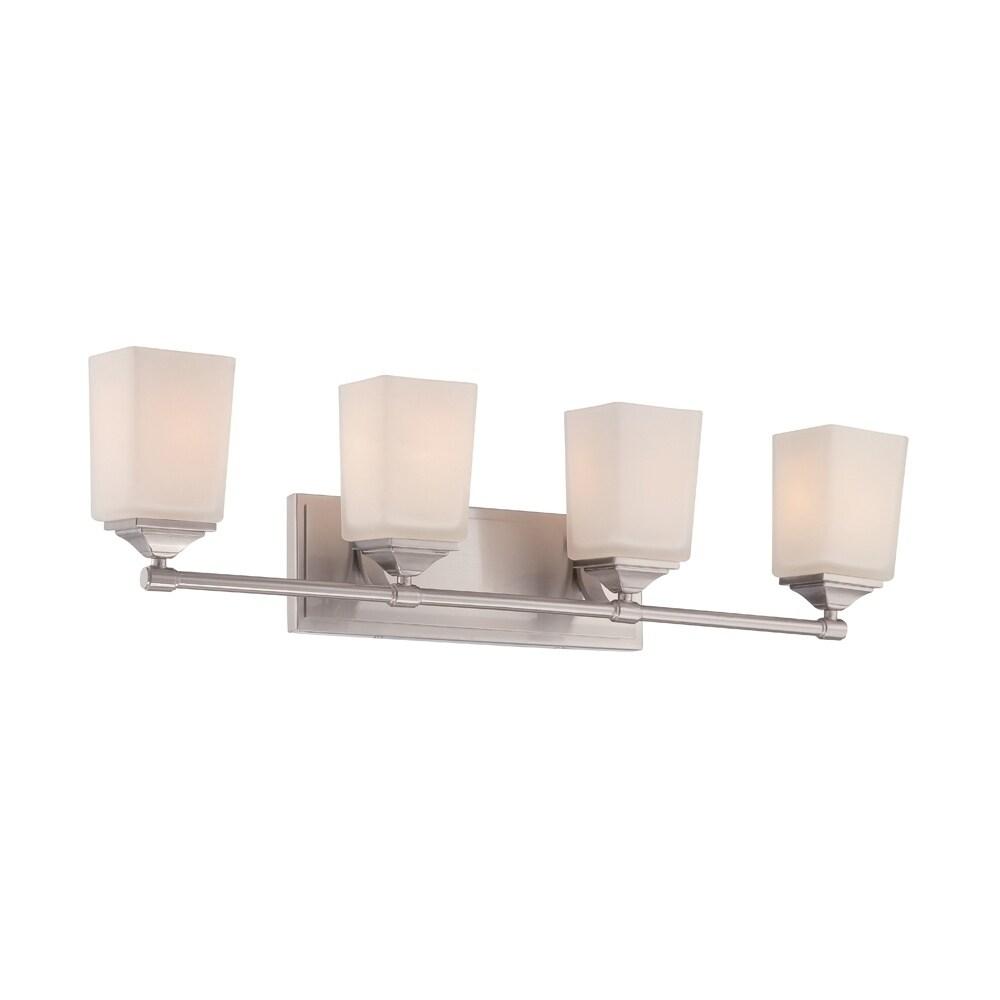 Amazon Com Effimero Black Bathroom Vanity 4 Light Fixture Modern Over Mirror Lighting With Clear Glass Shades Home Improvement