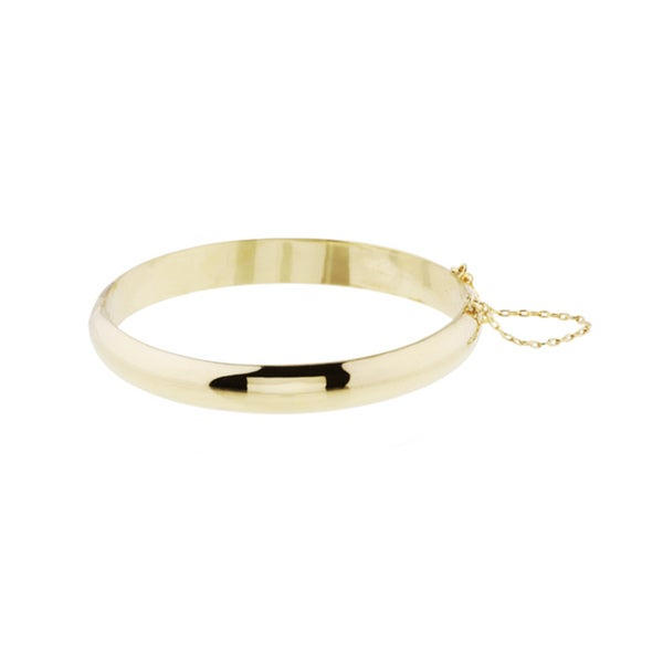 14k Gold over Sterling Silver Bangle Bracelet