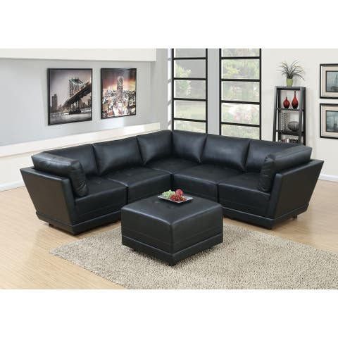 6-Pcs Symmetrical Modular Sectional with Ottoman