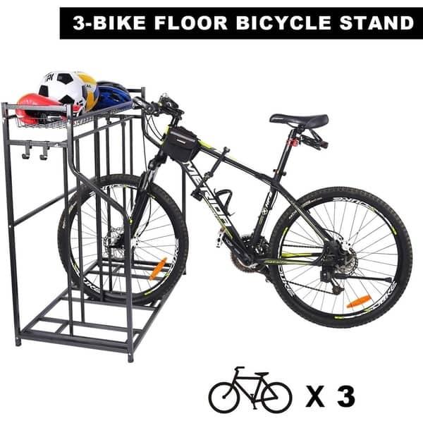 Set of two 2 Bike Bicycle Stand Garage Storage Organizer Cycling Rack Silver