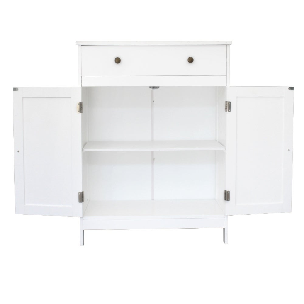 Takefuns FCH One Door /& Three Layers Bathroom Cabinet White