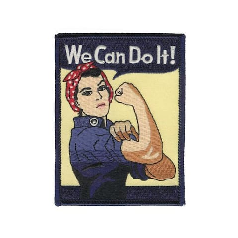 We Can Do It! Rosie The Riveter Embroidered Patch