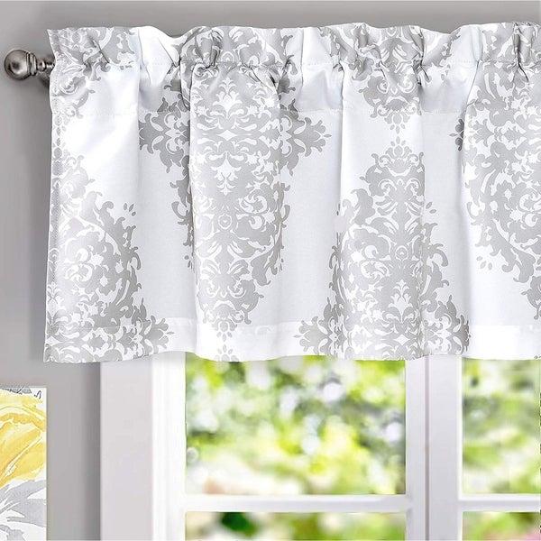 DriftAway Asher Medallion European Floral Window Curtain Valance - 52'' width x 18'' length (As Is Item)