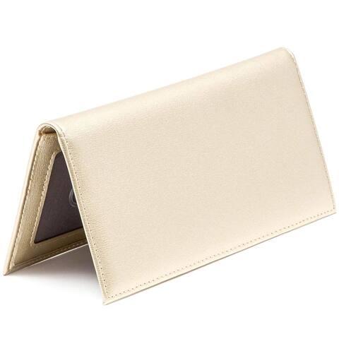 RFID Blocking Checkbook Cover Wallet Card Holder for Personal Checkbook Men Women, Gold