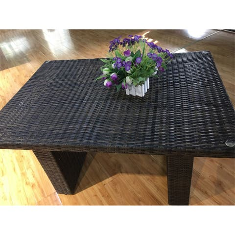 Outdoor Dining Wicker Table