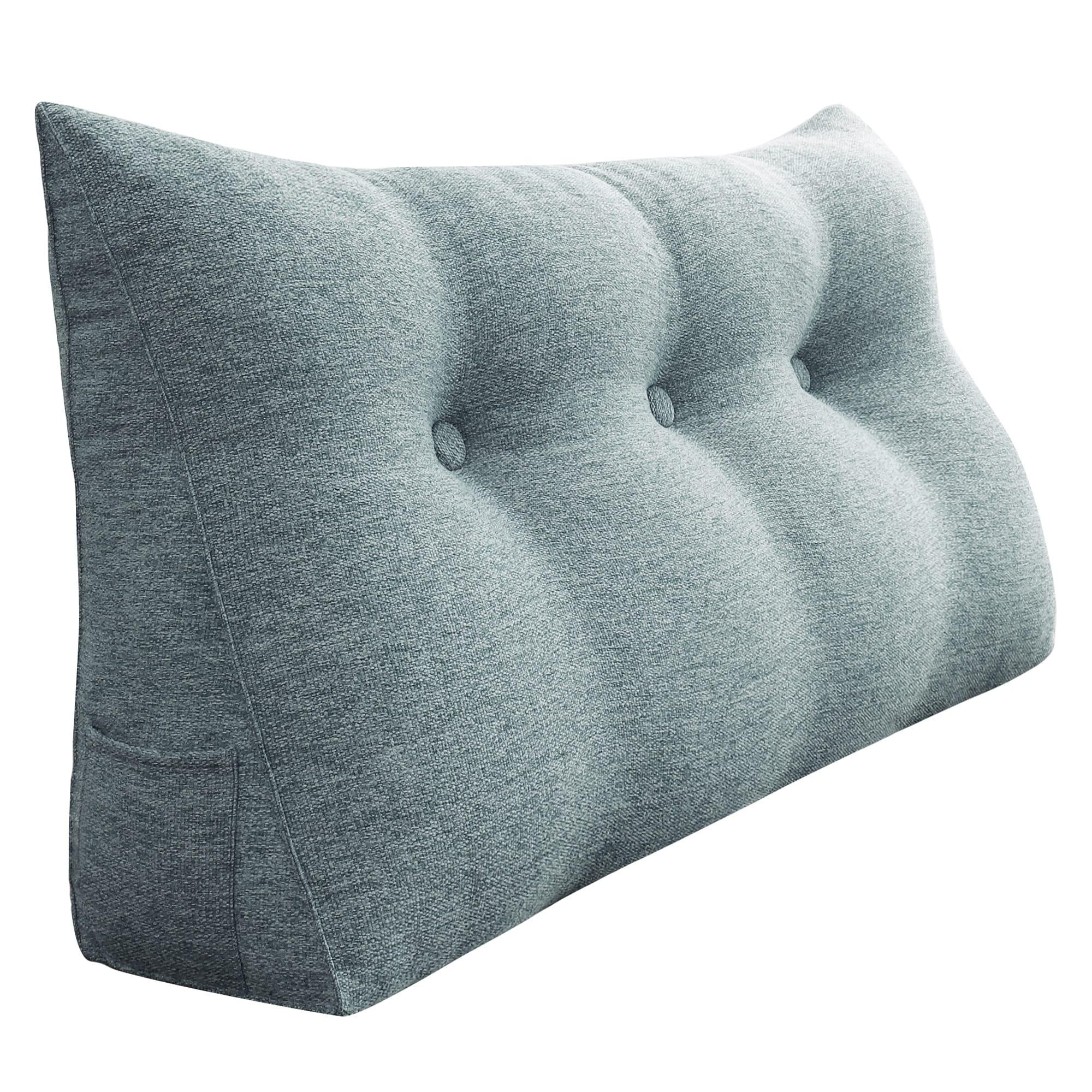 Wowmax Bed Rest Wedge Bolster Pillow Decorative Gray Lumbar Pillow Overstock 30994682
