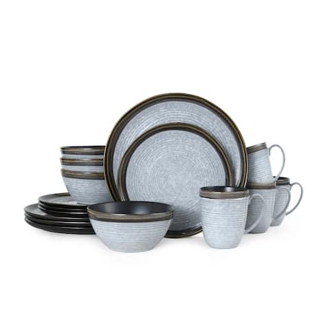 Mikasa Willa Brown 16 Piece Dinnerware Set (Service for 4)