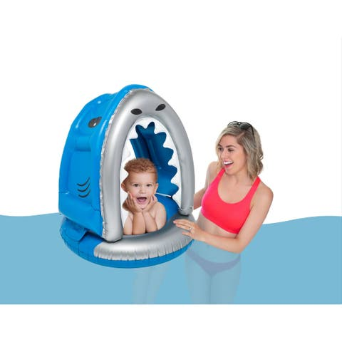 BigMouth Inc. Inflatable Shark Lil Float with Canopy