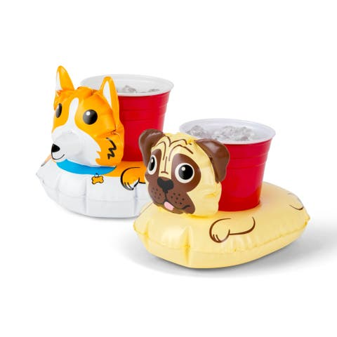 BigMouth Inc. Dog Beverage Boats Corgi & Pug 2 pack