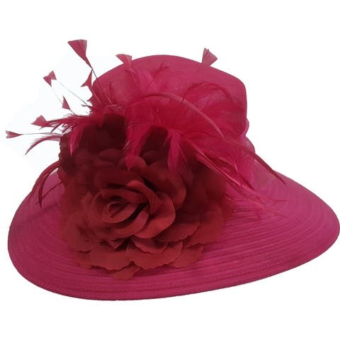 Sinamay Straw Derby Preakness or Belmont Stakes summer Hat