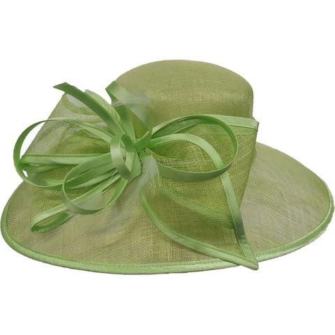Women's Designer Dressy Kentucky Derby Sinamay Straw Hat