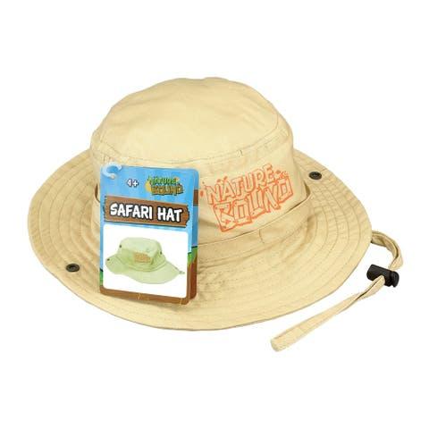 Nature Bound Kids Explorer Khaki Safari Hat w/ Drawstring
