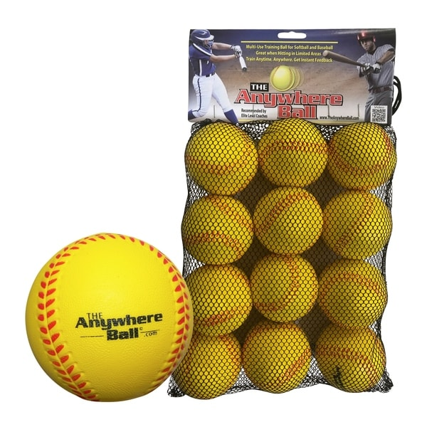 The Anywhere Ball Soft Skill Trainer for Baseball, Softball, or Practice Ball - 3 inch Foam