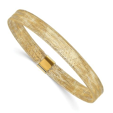 14 Karat Polished Stretch Bangle by Versil
