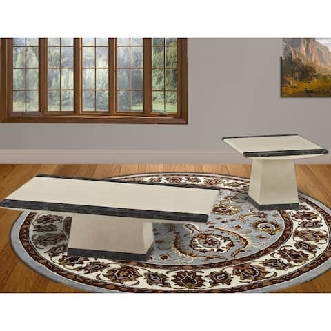 Best Master Furniture 2930 Marble Coffee and End Table Set