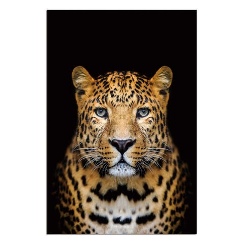 """Spotted Leopard"" Acrylic Wall Art (48 In. x 32 In.)"