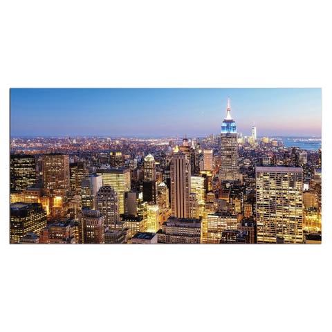 """Manhattan Skyline"" Acrylic Wall Art (32 In. x 48 In.)"