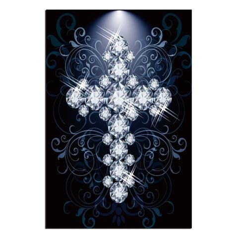 """Diamond Cross"" Acrylic Wall Art (48 In. x 32 In.)"