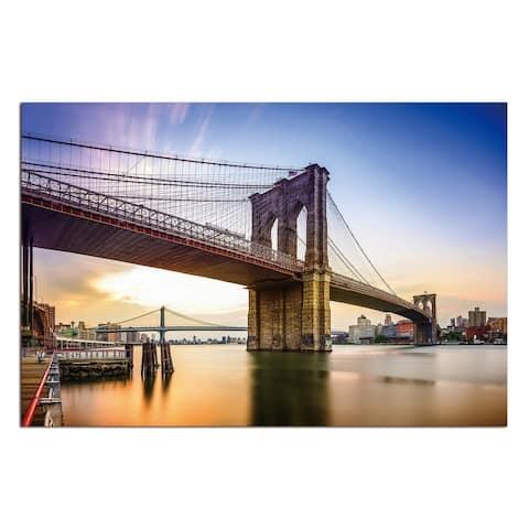 """Brooklyn Bridge"" Acrylic Wall Art (32 In. x 48 In.)"