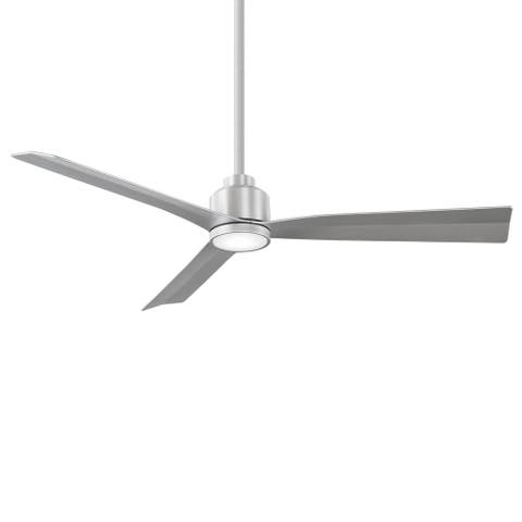 Clean 3-Blade Smart Compatible Ceiling Fan 54in Brushed Aluminum with 3000K LED Light Kit with Remote