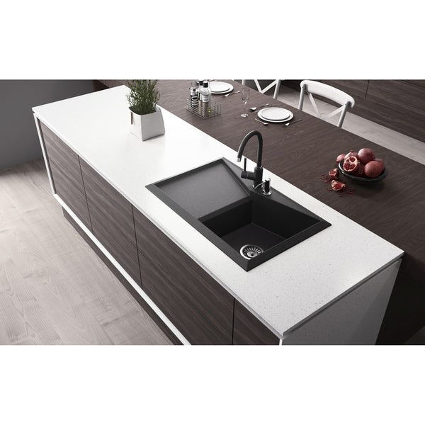 "Shop Lavello Granite Composite 30.5"" Drop in with ..."